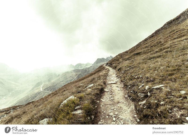 weg nach... Himmel Natur Ferien & Urlaub & Reisen ruhig Landschaft Erholung Umwelt Ferne Berge u. Gebirge Gras Wege & Pfade Freiheit Felsen natürlich Wetter