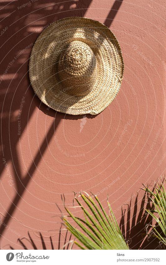 Schattenspender Strohhut Hut Wand Palme Licht Marokko