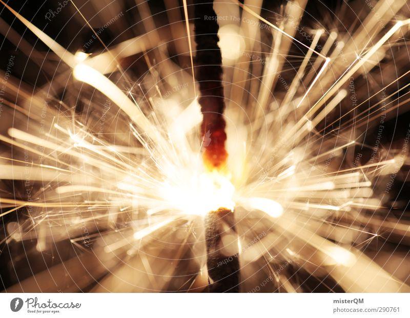BAAM! Wärme Kunst Feste & Feiern Party ästhetisch Feuer viele Silvester u. Neujahr heiß Funken Glut Partystimmung Wunderkerze zündend Countdown Perspektive