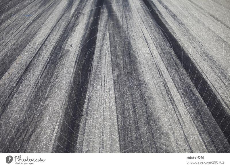 Schumi? Kunst Abenteuer Rennbahn Asphalt Reifenspuren Formel 1 Geschwindigkeit Geschwindigkeitsrausch Rennsport Bremsspur Fahrradbremse viele Symmetrie