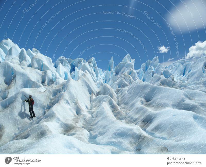 Eisbergsalat Mensch Einsamkeit Ferne Freiheit Reisefotografie Klima Abenteuer Frost entdecken Fernweh Klimawandel Expedition Patagonien erleben