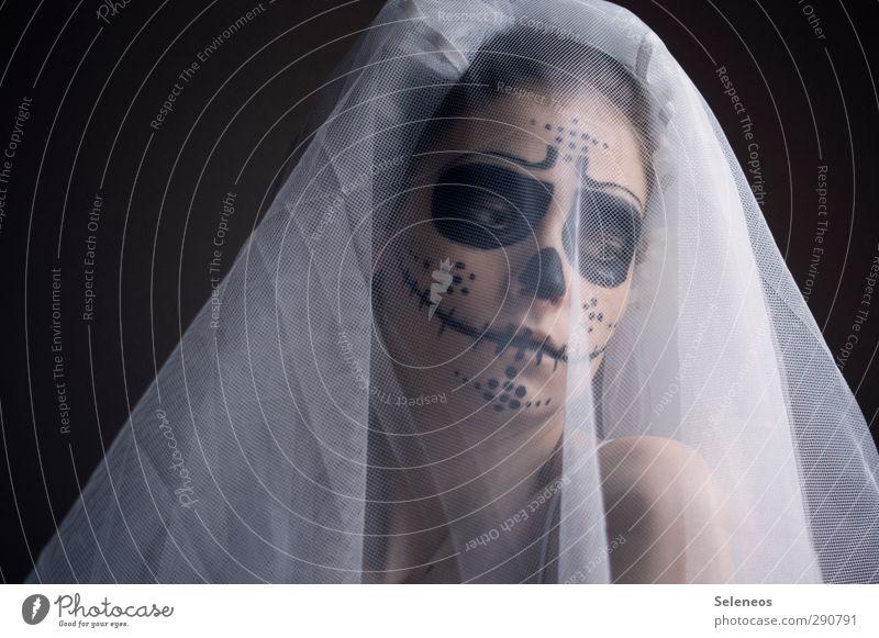 trau dich doch Körper Haut Gesicht Kosmetik Schminke Feste & Feiern Karneval Halloween Mensch feminin Frau Erwachsene Auge Nase Mund 1 Bekleidung Stoff Schleier