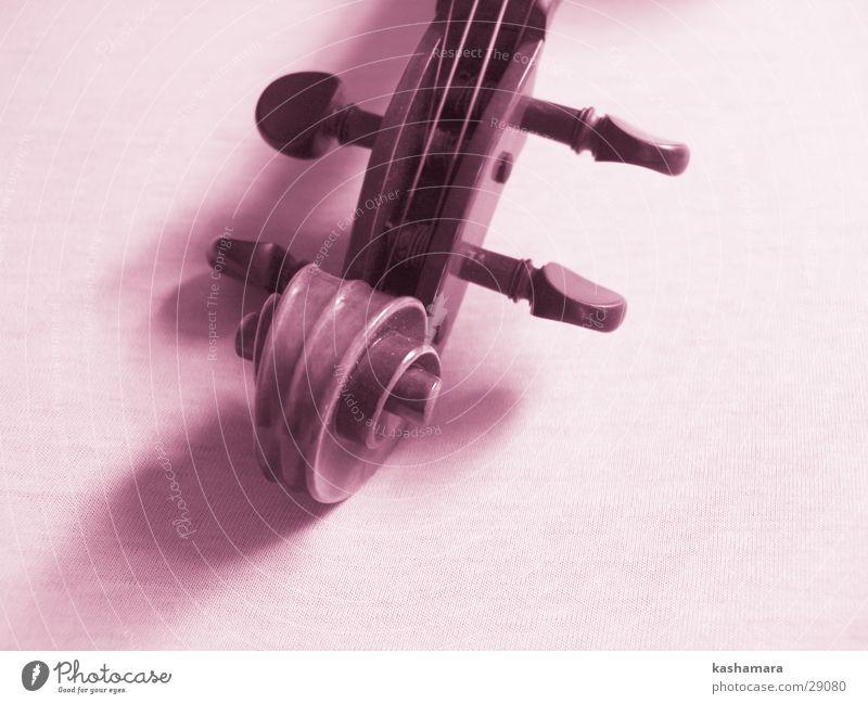Pink-Violin II Spielen Musik Holz rosa violett Konzert Musiknoten Geige Orchester