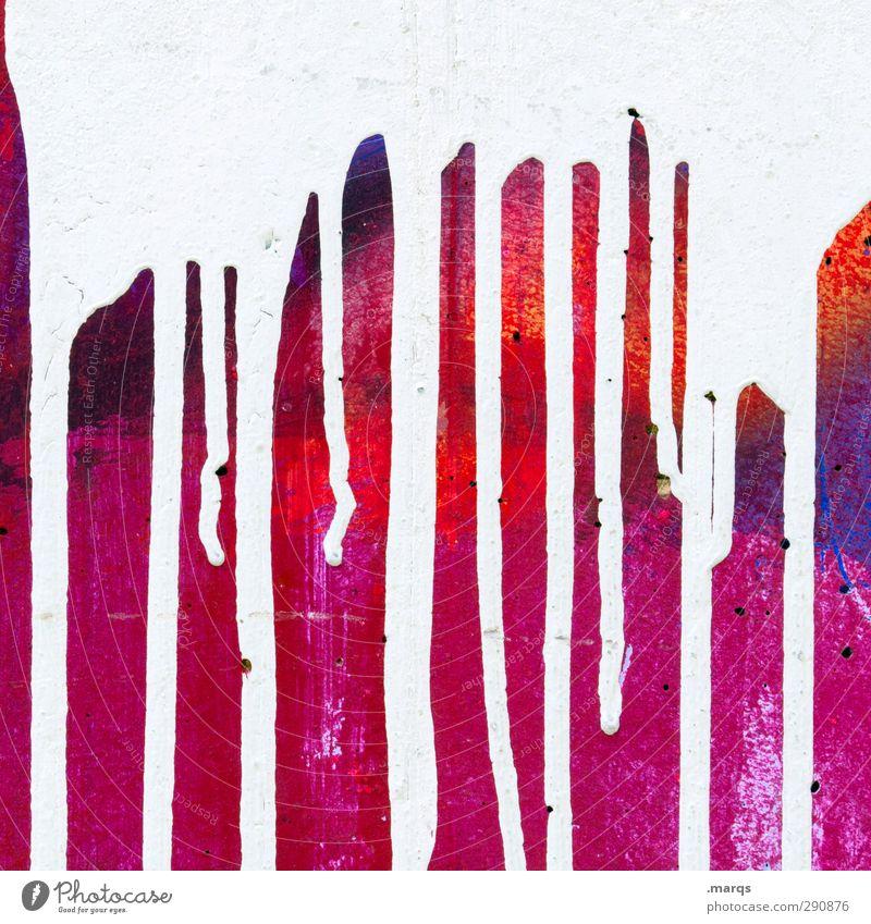 Abfluss Farbe Graffiti Wand Mauer Stil Kunst elegant Design Lifestyle Coolness einzigartig Jugendkultur Flüssigkeit fließen Anstreicher Schmiererei