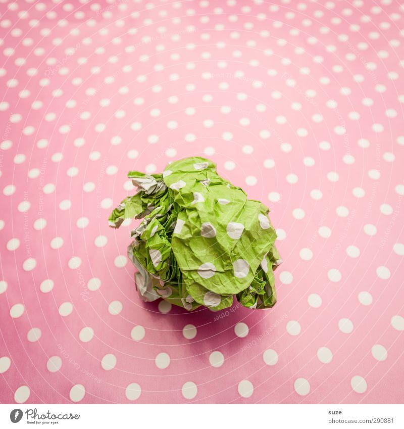 Wir wollten uns doch nichts schenken! grün schön Feste & Feiern Stil rosa Geburtstag Freizeit & Hobby Design Lifestyle niedlich Geschenk Papier Kreativität Idee Freundlichkeit Punkt