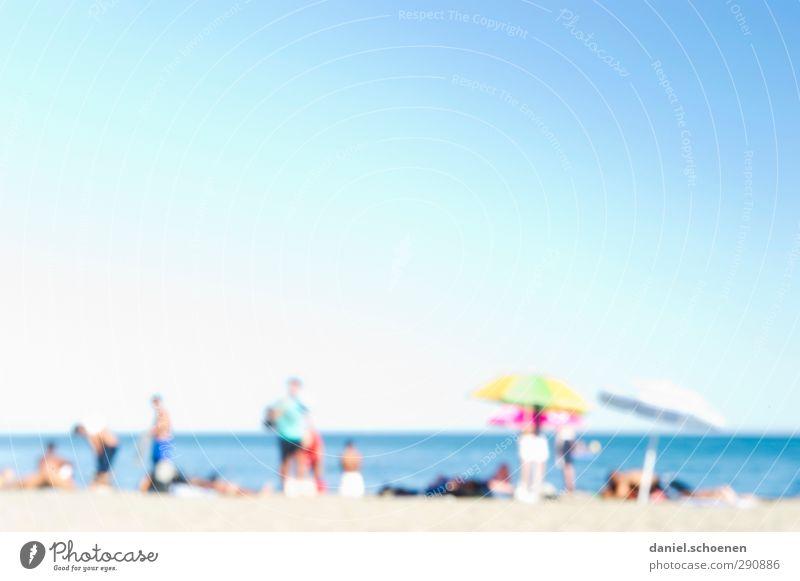 neulich am Strand ohne Brille Mensch Ferien & Urlaub & Reisen Sommer Sonne Meer Erholung Farbstoff Menschengruppe Tourismus Sonnenbad Sommerurlaub