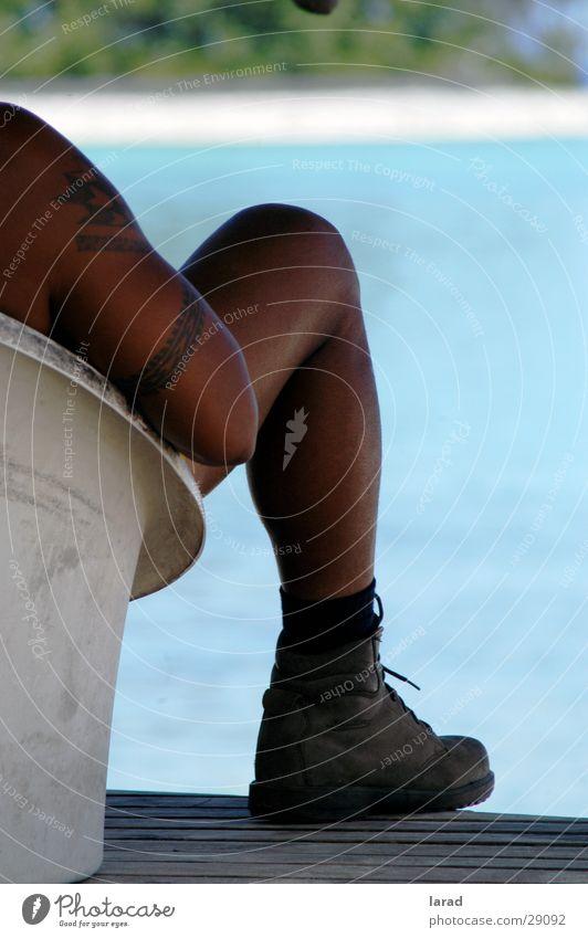 Rarotongan Man Mann Meer Stiefel Neuseeland