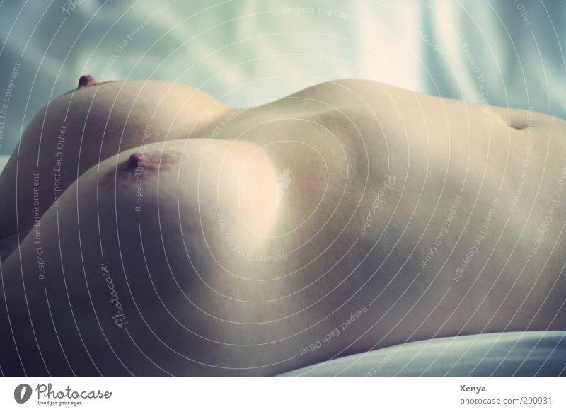 Hügellandschaft feminin Frau Erwachsene Haut Brust Frauenbrust 1 Mensch 30-45 Jahre liegen nackt Weiblicher Akt Innenaufnahme Oberkörper