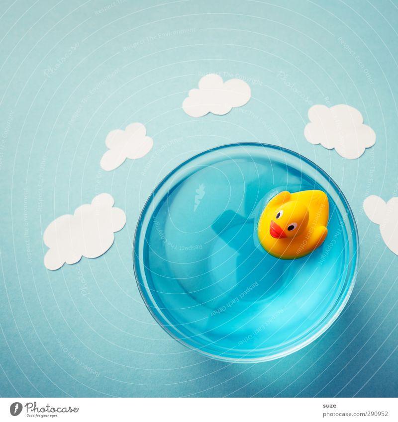 Die Welt ist klein Design Freude Schwimmen & Baden Freizeit & Hobby Basteln Wasser Himmel Wolken Papier Spielzeug Badeente Kitsch Krimskrams Freundlichkeit