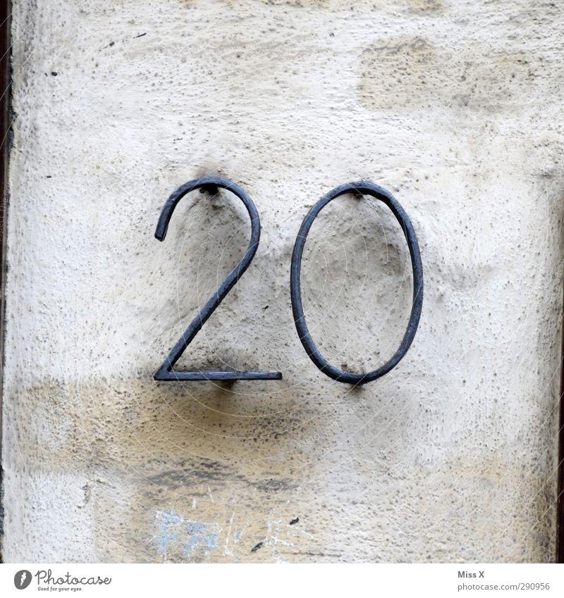 20 hell Schriftzeichen Zeichen gut heiß hässlich Billig Hausnummer