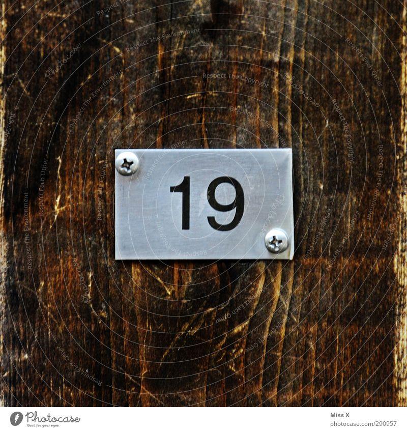 19 hell Schriftzeichen Zeichen gut heiß hässlich Billig Hausnummer