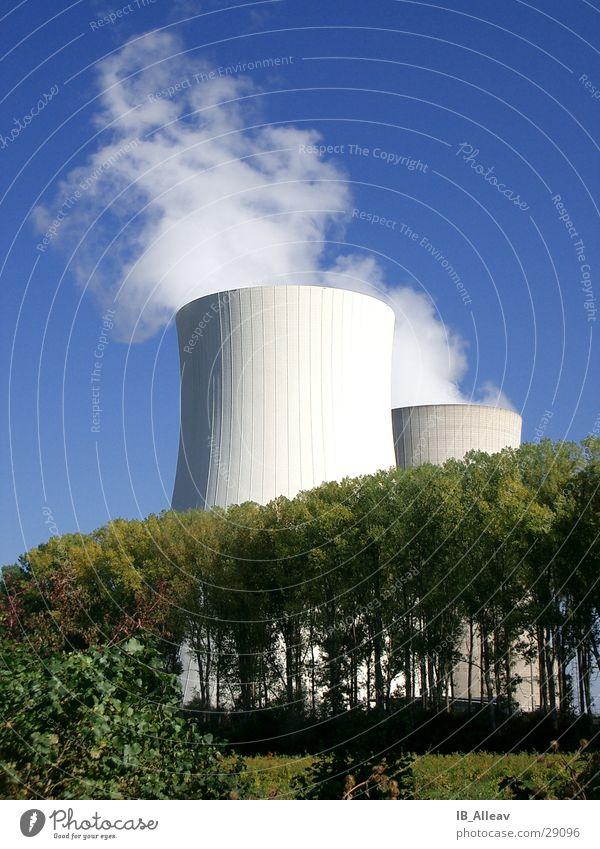 Kraftwerk Natur Himmel Wolken Nebel Industrie Energiewirtschaft Elektrizität Wandel & Veränderung Stromkraftwerke Rhein Kernkraftwerk verwandeln