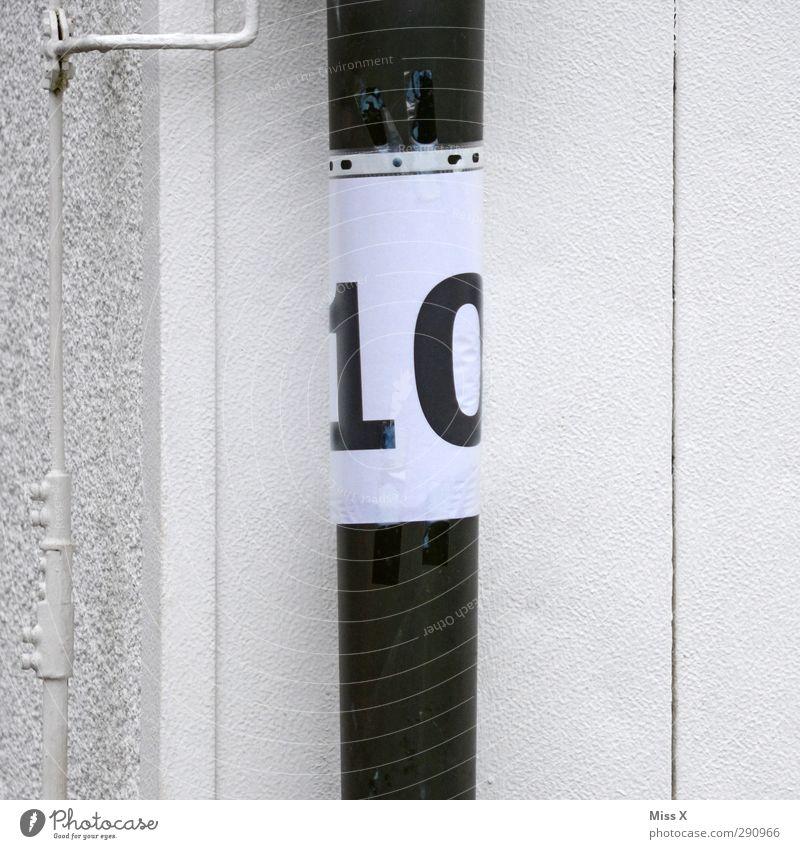 10 Zeichen Schriftzeichen Schilder & Markierungen weiß Problemlösung Klarsichthülle Folie Rohrleitung Hausnummer Wand Ziffern & Zahlen improvisieren Klebeband