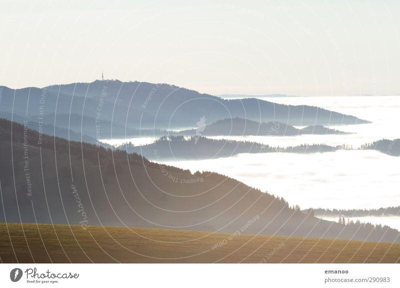 Schau ins Meer Ferien & Urlaub & Reisen Berge u. Gebirge wandern Natur Landschaft Luft Wasser Himmel Klima Wetter Nebel Pflanze Baum Gras Wiese Wald Hügel