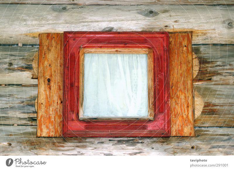 schön weiß rot Haus Architektur klein braun offen Fassade Design Aussicht Hütte Material durchsichtig Tradition heimwärts