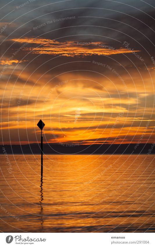 see sign Himmel Natur Ferien & Urlaub & Reisen Wasser Sommer Sonne Meer Wolken ruhig Strand Landschaft gelb Wärme Küste See Luft