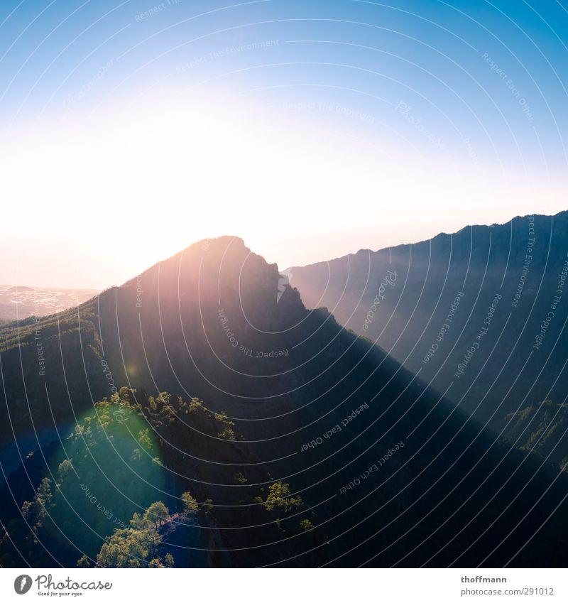 La Palma Freizeit & Hobby Ferien & Urlaub & Reisen Ausflug Abenteuer Freiheit Insel Klettern Bergsteigen Fahrradfahren Natur Landschaft Himmel Horizont Sonne