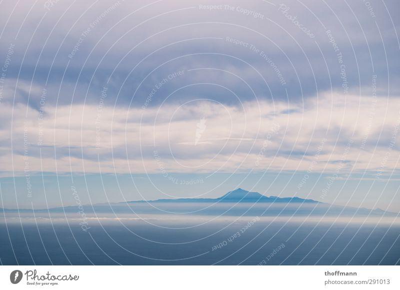Teide Teneriffa Himmel Ferien & Urlaub & Reisen Meer Wolken Ferne Berge u. Gebirge Reisefotografie Freizeit & Hobby hoch wandern Europa Insel Abenteuer Gipfel