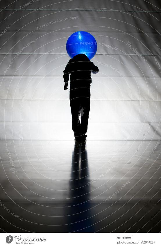 Dickkopf Freude Mensch Mann Erwachsene Kopf 1 leuchten stehen außergewöhnlich dunkel groß einzigartig Krankheit rund blau schwarz Coolness Kraft Überraschung