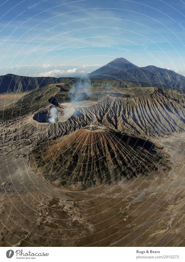 Die Erde bebt Natur Landschaft Reisefotografie Ferne Berge u. Gebirge Umwelt braun Sand Aussicht Abenteuer gefährlich Gipfel Urelemente Asien Rauch