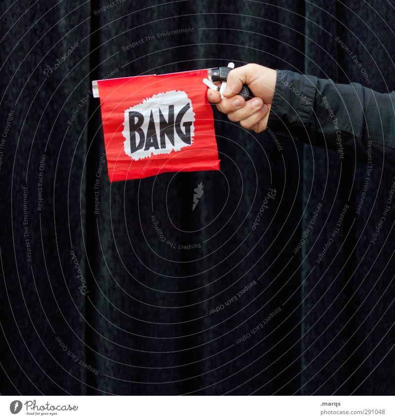 BIG BANG Hand Freude lustig außergewöhnlich Freizeit & Hobby Finger Schriftzeichen Show Zeichen Veranstaltung skurril Vorhang Irritation Zauberei u. Magie