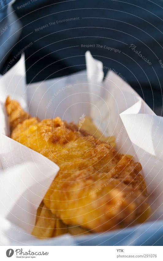 Cholesterol olé! Lebensmittel Fisch Ernährung Essen Fastfood Billig heiß lecker gold Freude zurückhalten Fish und Chips frittiert ungesund Übergewicht