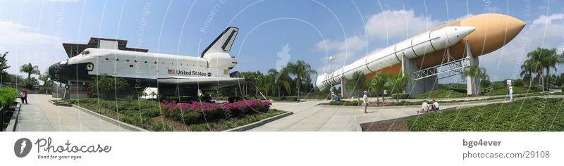 Spaceshuttel + Trägerrakete Raumfahrt Panorama (Bildformat) Rakete Florida Orlando Space Shuttle Kennedy Space Center