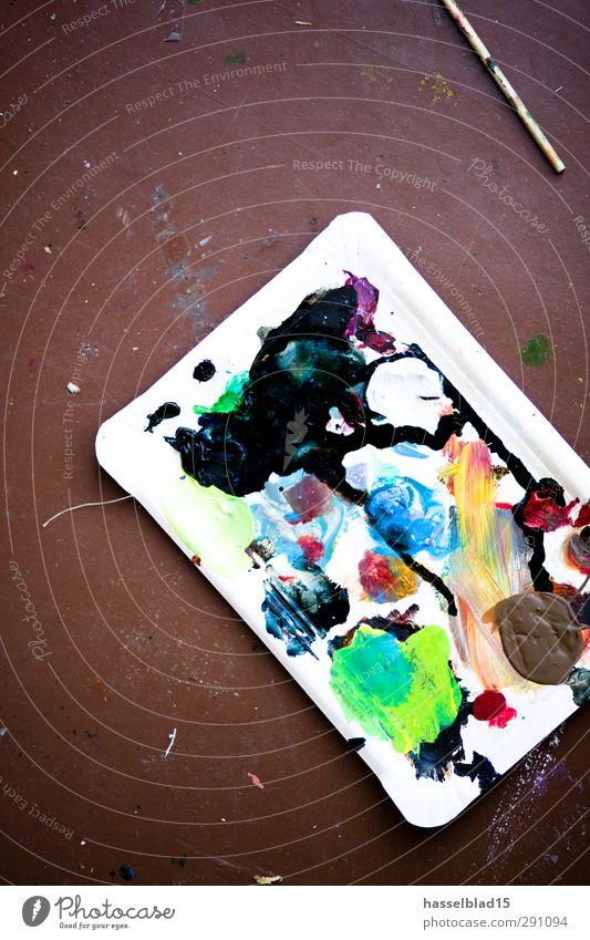 Atelier Farben Innenarchitektur Kunst Arbeit & Erwerbstätigkeit Wohnung Häusliches Leben modern lernen Studium Bodenbelag Pause Kitsch Bildung Gemälde trocken