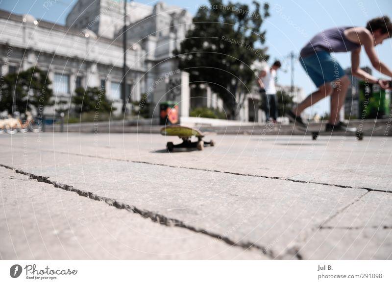 Milano Skate Freizeit & Hobby Stadt beobachten machen sportlich Stimmung Skateboard Fun Mailand Farbfoto Außenaufnahme Tag Unschärfe