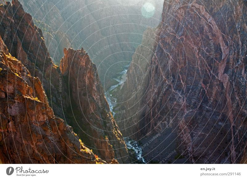 tiiiiiiief Natur Landschaft Ferne Freiheit Zeit Felsen braun hoch Abenteuer Wandel & Veränderung Vergänglichkeit USA Höhenangst Amerika Schlucht gigantisch