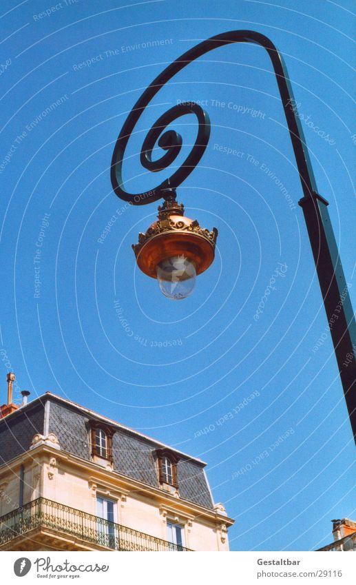 Straßenlaterne Laterne Lampe Messing Spirale Haus gestaltbar historisch Beleuchtung Glübirne Schnecke