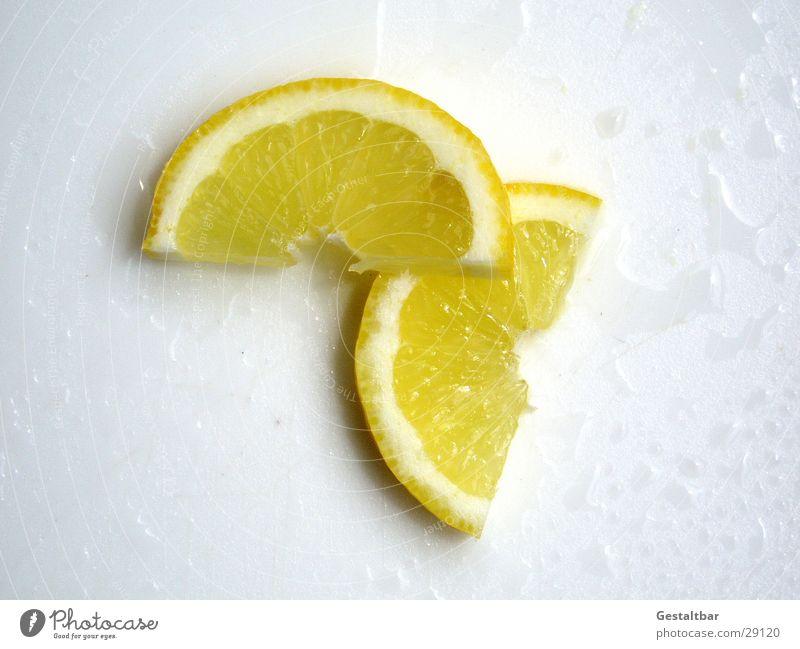 saure Stückchen Zitrone gelb Hälfte Vitamin C Gesundheit gestaltbar Frucht Wut Teile u. Stücke Fensterscheibe