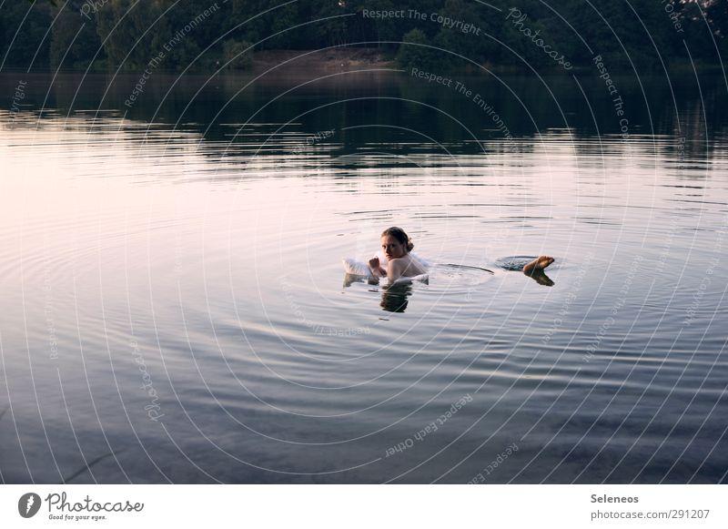 Sommer wär jetzt toll Mensch Frau Natur Ferien & Urlaub & Reisen Wasser Strand Landschaft nackt Erwachsene Umwelt feminin Freiheit Küste See Schwimmen & Baden
