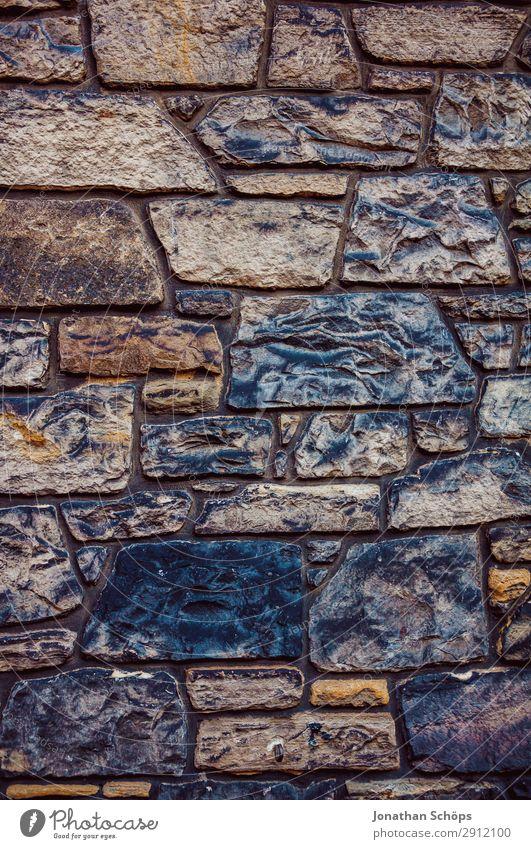 alte Steinwand an einem Haus in Edinburgh Großbritannien Hintergrundbild Muster Schottland Strukturen & Formen Wand Backstein Außenaufnahme achtsam hart steinig