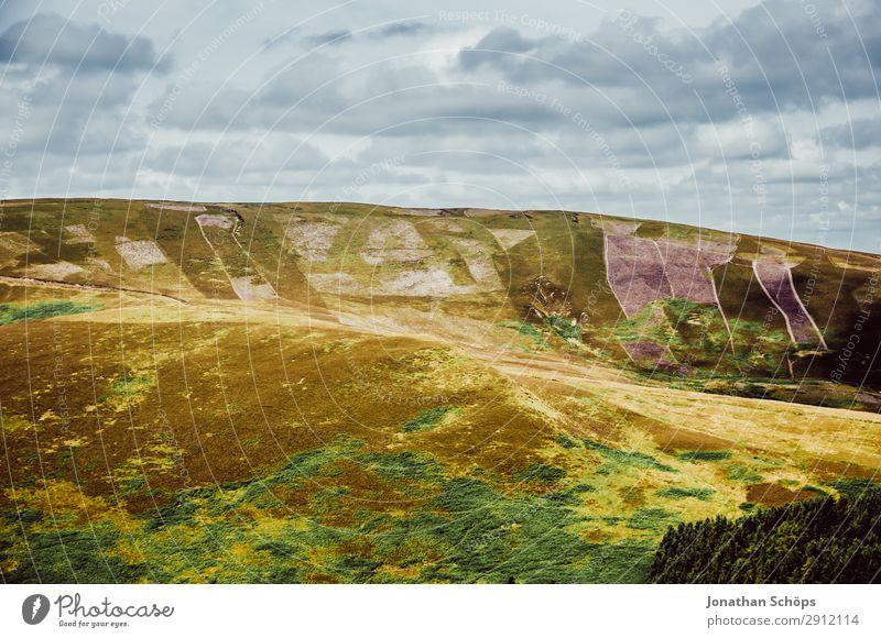 Pentland Hills nahe Edinburgh, Schottland Himmel Natur Sommer grün Landschaft Reisefotografie Berge u. Gebirge wandern Feld Luft Schönes Wetter Klima Urelemente