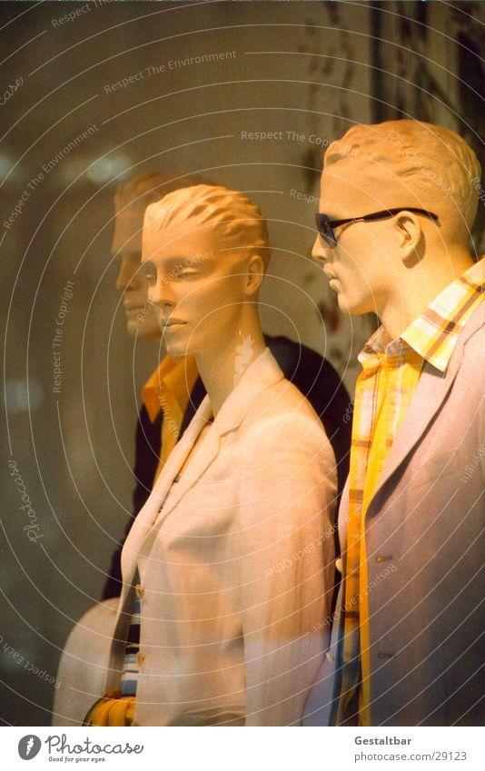 Schaufensterpuppen Sonnenbrille Bekleidung Reflexion & Spiegelung Anzug Jacke Hemd Bluse Mann Frau gestaltbar Freizeit & Hobby Puppe Glas gestellt