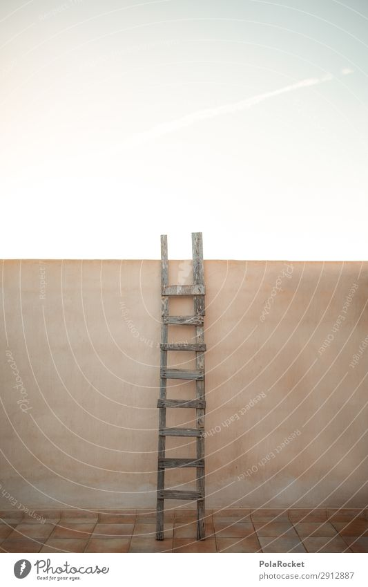 #A# hoch hinaus Kunst ästhetisch Leiter Hochformat Hochsitz Hochbau Treppe Leitersprosse Klettern Zukunft Futurismus Hürde Mauer Barriere erobern Erfolg