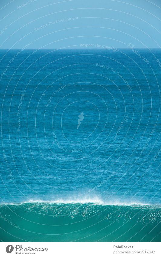 #A# Blauer Schlag Kunst ästhetisch Meer Wellen Wellengang Wellenform Wellenbruch Wellenkuppe Farbfoto Gedeckte Farben Außenaufnahme Detailaufnahme Experiment