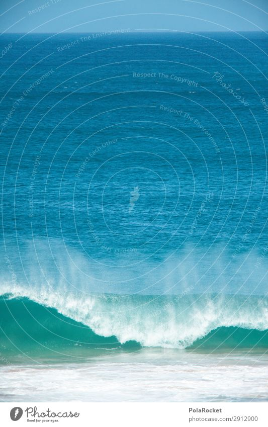 #A# BlauerSchlag Umwelt Klima Schönes Wetter ästhetisch Meer Meeresforschung Surfen Surfer Surfbrett Surfschule blau Farbfoto mehrfarbig Außenaufnahme