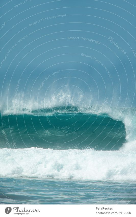 #A# Stürzendes Blau Kunst ästhetisch Meer Meerwasser Wellen Wellengang Wellenform Wellenschlag Wellenkuppe Wellenbruch Brandung Surfen Surfer Surfbrett