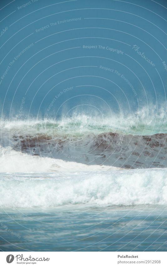 #A# Wasserfarbe Kunst Kunstwerk ästhetisch Surfen Surfer Surfbrett Surfschule Wellen Wellengang Wellenform Wellenlänge Wellenschlag Farbfoto Gedeckte Farben