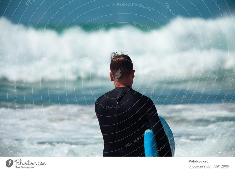#AE# LernTag Kunst ästhetisch Surfen Surfer Surfbrett Surfschule Wasser Wassersport Neoprenanzug Farbfoto mehrfarbig Außenaufnahme Detailaufnahme Experiment
