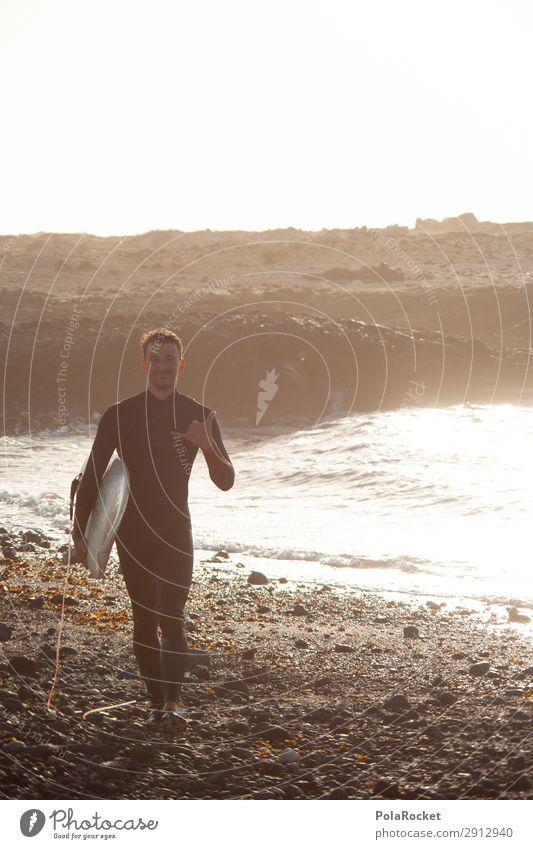 #A# FreiZeit Kunst ästhetisch Surfen Surfer Surfbrett Surfschule Meer Meerwasser Neoprenanzug Farbfoto Außenaufnahme Nahaufnahme Detailaufnahme Experiment