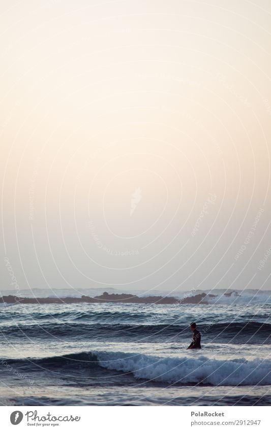 #AE# Ausblick Kunst ästhetisch Meer Wellen Wellengang Wellenform Wellenschlag Wellenbruch Surfen Surfer Surfbrett Surfschule Farbfoto Gedeckte Farben
