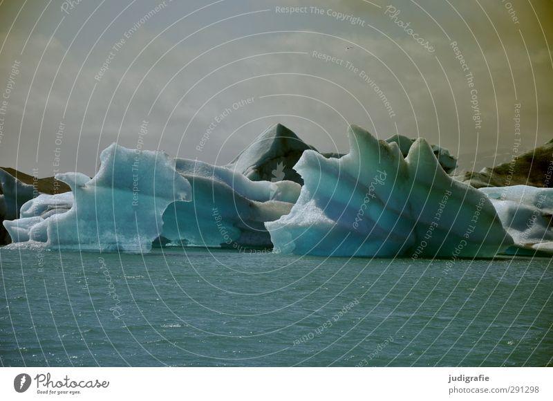 Island Himmel Natur Wasser Landschaft Umwelt kalt See Schwimmen & Baden Stimmung natürlich Eis außergewöhnlich Klima Wandel & Veränderung Frost Vergänglichkeit