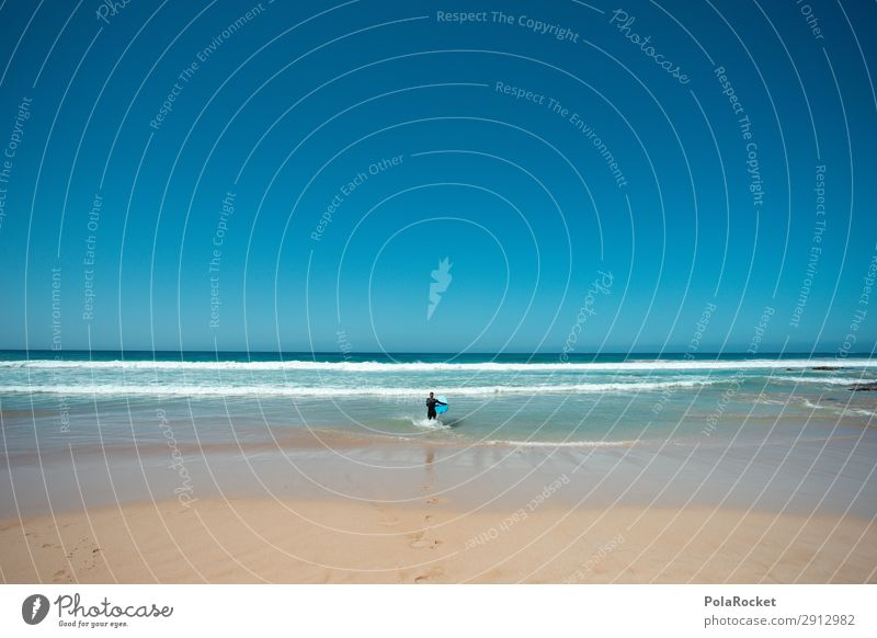 #A# los geht's Sommer blau Meer Kunst Wellen ästhetisch Sommerurlaub Kunstwerk Surfen Surfer Surfbrett Fuerteventura Surfschule