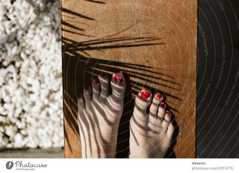 Summmerfüße elegant Stil Freude Pediküre Nagellack Leben harmonisch Freizeit & Hobby Ferien & Urlaub & Reisen Tourismus Ausflug Abenteuer Freiheit Sommer