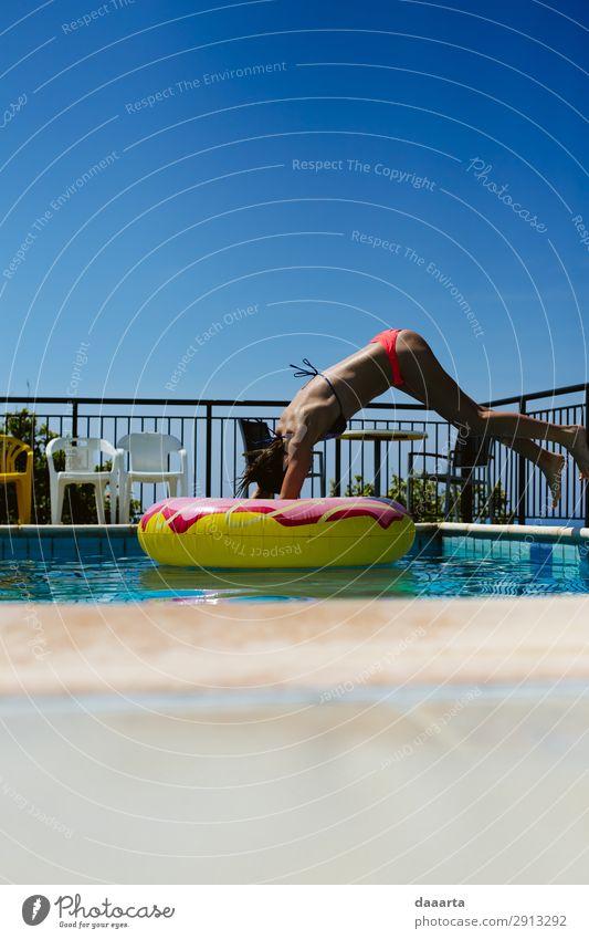 Sprung Lifestyle Stil Freude Leben harmonisch Schwimmbad Freizeit & Hobby Ferien & Urlaub & Reisen Tourismus Ausflug Abenteuer Freiheit Sightseeing Sommer
