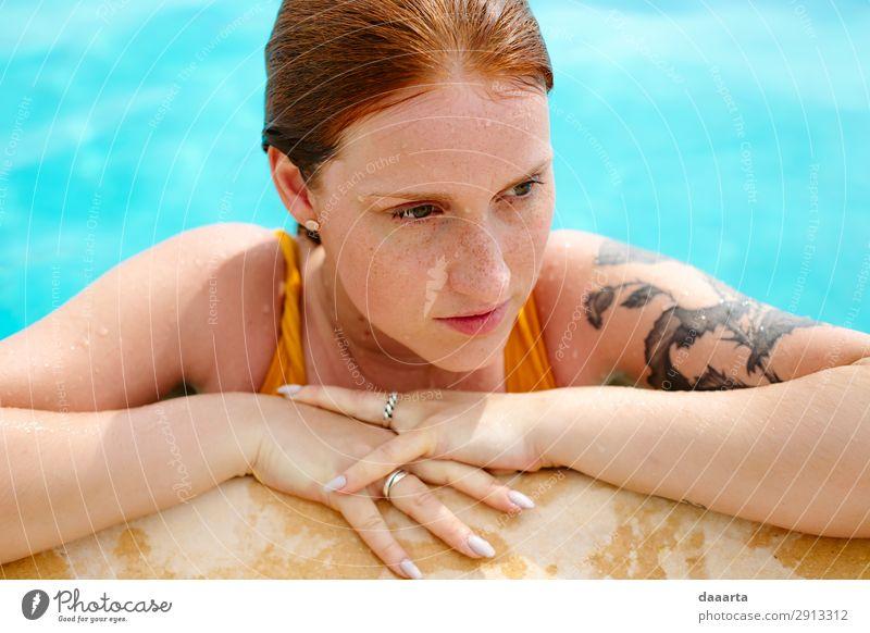 Ferien & Urlaub & Reisen Jugendliche Junge Frau Sommer schön Erholung Freude Leben feminin Stil Tourismus Freiheit Schwimmen & Baden Stimmung Häusliches Leben