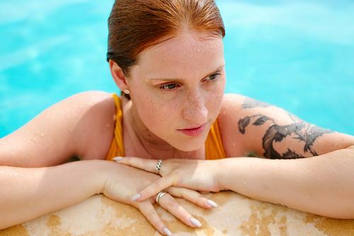 Urlaubsstimmung auf elegant Stil Freude Leben harmonisch Erholung Schwimmbad Schwimmen & Baden Freizeit & Hobby Ferien & Urlaub & Reisen Tourismus Ausflug